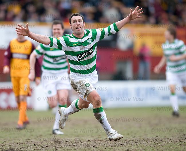 Scott McDonald celebrates his goal