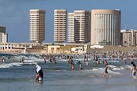 Tripoli, Libya - Mediterranean Beach Scene, Summer, Corinthia Hotel, Dhat al-Imad Office Buildings