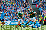 David Moran, Kerry in action against Niall Scully, Dublin during the GAA Football All-Ireland Senior Championship Final match between Kerry and Dublin at Croke Park in Dublin on Sunday.