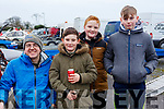 Enjoying the Jimmy Devane Moto Cross at Ballybeggan Racecourse on Saturday last, l-r, James Lucey (Ballyvorney), Aiden Cronan (Killarney), Gene Moynihan (Killarney) and Jack Brennan (Milltown).