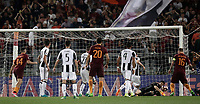 Calcio, Serie A: Roma, stadio Olimpico, 14 maggio 2017.<br /> AS Roma's Daniele De Rossi (r) is going to score during the Italian Serie A football match between AS Roma and Juventus at Rome's Olympic stadium, May 14, 2017.<br /> UPDATE IMAGES PRESS/Isabella Bonotto