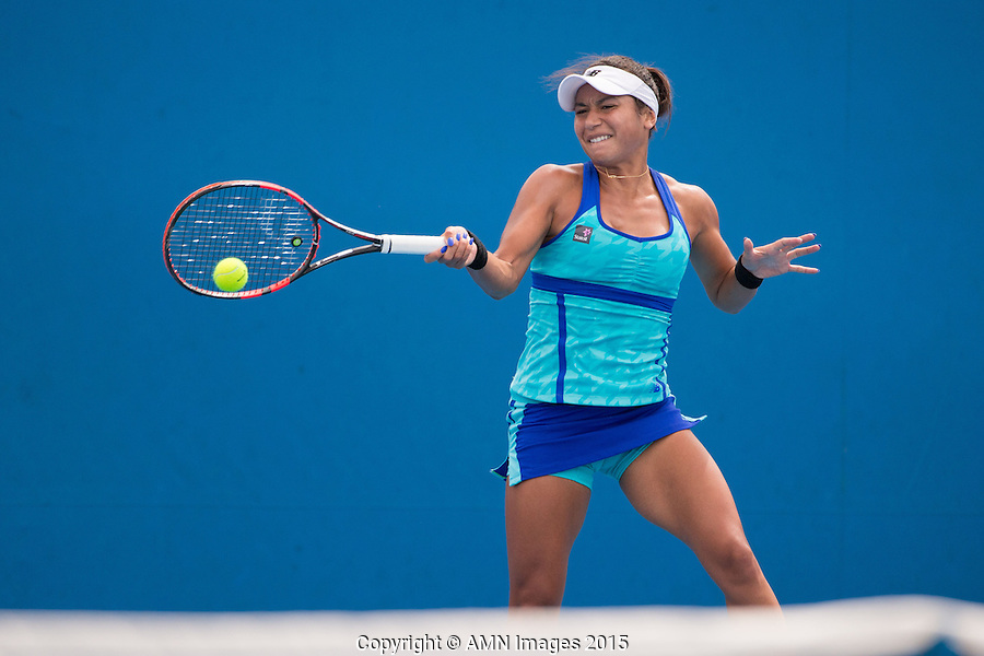 Heather Watson (GBR)<br /> <br /> Tennis - Australian Open 2015 - Grand Slam -  Melbourne Park - Melbourne - Victoria - Australia  - 20 January 2015. <br /> &copy; AMN IMAGES
