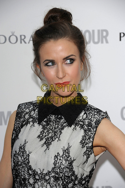 Katherine Kelly.Women Of The Year 2012 - Glamour Awards, Berkeley Square, London, England..29th May 2012.headshot portrait hair up bun white black sleeveless lace  .CAP/PL.©Phil Loftus/Capital Pictures.