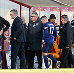 17.02.2019: Motherwell v Hearts: Ben Garuccio walks off