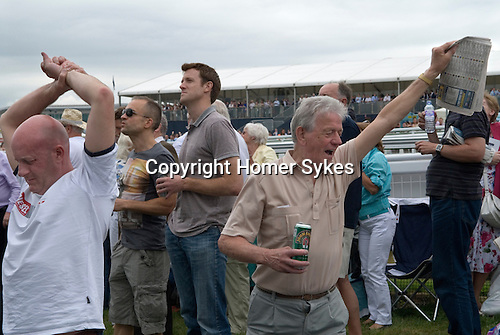 The Derby horse race. Epsom Down Surrey UK. Win loose, success failure happy sad. 2012