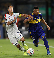 "BUENOS AIRES-ARGENTINA, 10-03-2020:Frank Fabra de Boca Juniors y Andres Ricaurte of de Deportivo Independiente Medellin disputan el balon durante partido de la fase de grupos, grupo H, fecha 2, entre Boca Juniors (ARG) y Deportivo Independiente Medellin (COL) por la Copa Conmebol Libertadores 2020, en el estadio Alberto Jose Armando ""La Bombonera"", de la ciudad Ciudad Autonoma de Buenos Aires. / Frank Fabra of Boca Juniors and Andres Ricaurte of Deportivo Independiente Medellin vie for the ball during a match of the groups phase, group H, 2nd date, between Boca Juniors (ARG) of Deportivo Independiente Medellin (COL) for the Conmebol Libertadores Cup 2020, at the Alberto Jose Armando ""La Bombonera"", in Ciudad Autonoma de Buenos Aires. VizzorImage / Javier Garcia Martino / Photogamma / Cont."