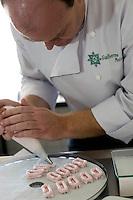 Belo Horizonte_MG, Brasil...Cozinheiro confeitando para o festival de gastronomia Sabor e Saber...The cook man icing for the gastronomy festival Sabor e Saber...FOTO: BRUNO MAGALHAES / NITRO