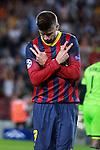 UEFA Champions League 2013/2014.<br /> FC Barcelona vs AFC Ajax: 4-0 - Game: 1.<br /> Gerard Pique.