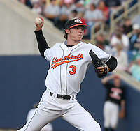 Delmarva Shorebirds Brandon Erbe during the South Atlantic League All-Star game at Classic Park on June 20, 2006 in Eastlake, Ohio.  (Mike Janes/Four Seam Images)