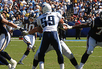 Sept. 17, 2006; San Diego, CA, USA; San Diego Chargers kicker (10) Nate Kaeding kicks against the Tennessee Titans at Qualcomm Stadium in San Diego, CA. Mandatory Credit: Mark J. Rebilas