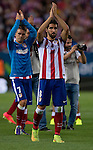 7   Atletico Madrid's French midfielder Antoine Griezmann<br /> 8   Atletico Madrid's midfielder Raul Garcia<br />  during the Spanish Super Cup first leg football match Club Atletico de Madrid vs Real Madrid CF at the Manzanares stadium in Madrid on August 22, 2014. PHOTOCALL3000/ DP