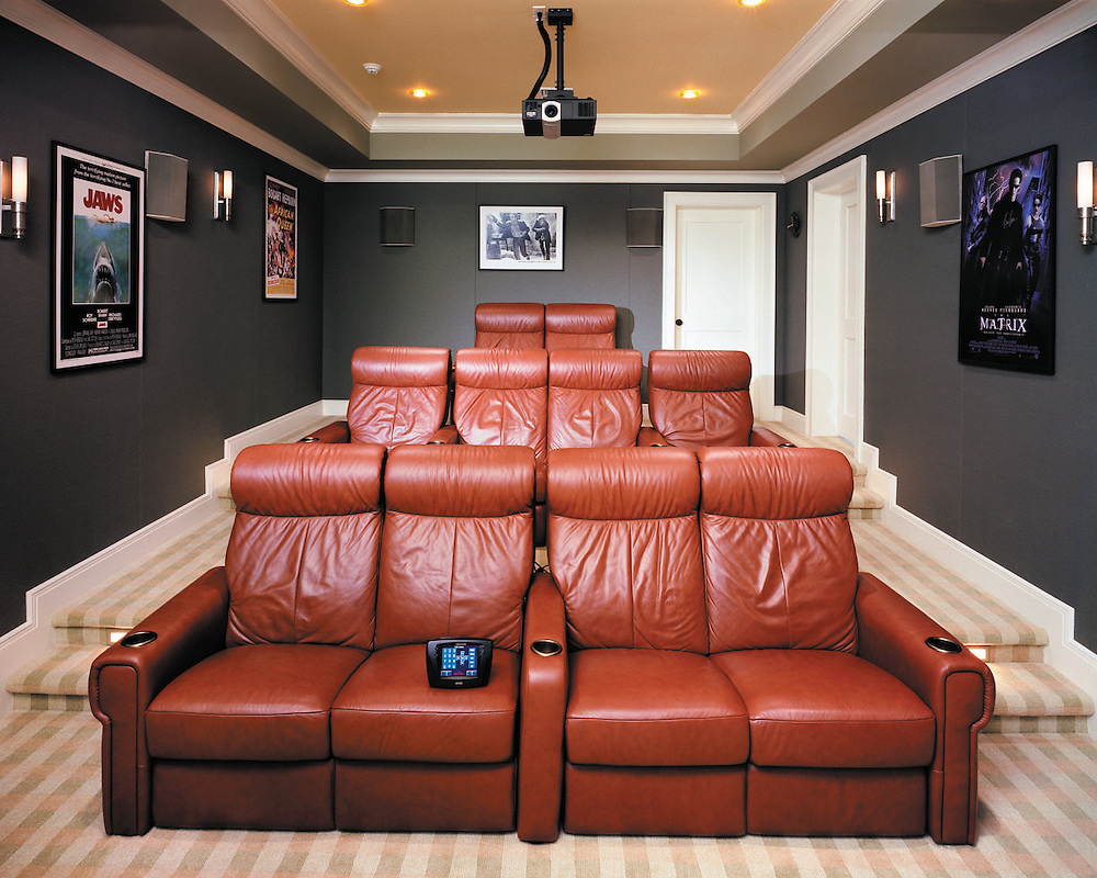 Modern Theater With Touch Panel Media Controls