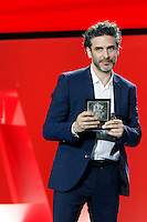 Actor Leonardo Sbaraglia recives the prize: 'Horizontes Latinos' by the film: 'Relatos Salvajes' during the closing ceremony of 62st San Sebastian Film Festival in San Sebastian, Spain. September 27, 2014. (ALTERPHOTOS/Caro Marin) /NortePHOTO.com /nortephoto.com