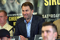 Eddie Hearn during a Press Conference at the Courthouse Hotel on 13th September 2018