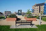 Hermitage Riverside Memorial Garden in Wapping, London. The garden commemorates the civilians who died in the London blitz bombings which commenced on 7 September 1940 and ended on 10 May 1941.