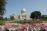 Minnesota, Twin Cities, Minneapolis-Saint Paul: The State Capitol Building in St. Paul, a large dome made of white marble..Photo mnqual307-75305..Photo copyright Lee Foster, www.fostertravel.com, 510-549-2202, lee@fostertravel.com.