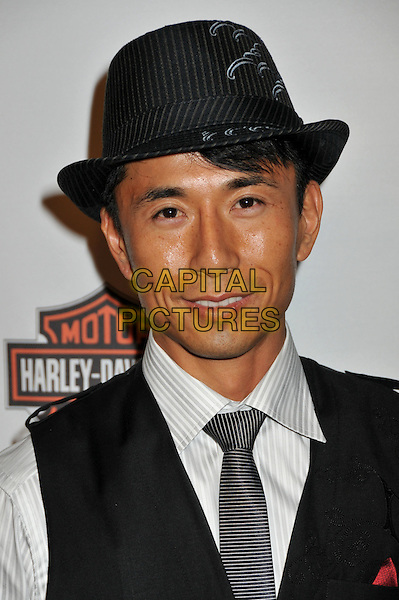 "JAMES KYSON LEE .Hollywood Entertainment Museum Honors The Cast Of NBC's ""Heroes"" at the Hollywood Legacy Awards XI at the Esquire House Hollywood Hills, Hollywood, California, USA,.1st November 2008..portrait headshot hat grey gray tie .CAP/ADM/BP.©Byron Purvis/Admedia/Capital PIctures"