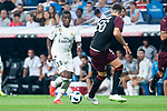 Real Madrid Vinicius Jr. and A.C. Milan Stefan Simic during Santiago Bernabeu Trophy match at Santiago Bernabeu Stadium in Madrid, Spain. August 11, 2018. (ALTERPHOTOS/Borja B.Hojas)
