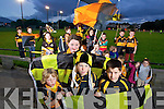 Fionan Ryan, Kirby Anne Ryan, Adam Hegerty and Donnacha Sayers Young Austin Stacks fans get ready for the County Final at the teams training session on Tuesday night.