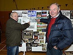 Former team members Willie Englishby and Pat Bannon find themselves in an exhibition of old photographs at the 60th birthday celebrations of Mattock Rangers. Photo:Colin Bell/pressphotos.ie