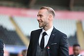 4th November 2017, Liberty Stadium, Swansea, Wales; EPL Premier League football, Swansea City versus Brighton and Hove Albion; Mike van der Hoorn of Swansea City arrives at the ground