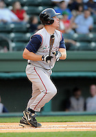 April 24, 2008: Infielder Jeffrey Cunningham (21) of the Asheville Tourists, Class A affiliate of the Colorado Rockies, in a game against the Greenville Drive at Fluor Field at the West End in Greenville, S.C. Photo by:  Tom Priddy/Four Seam Images