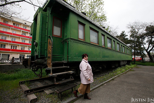 The personal train carriage of Joself Stalin at the Stalin museum in Gori, central Georgia, where the Soviet dictator was born.