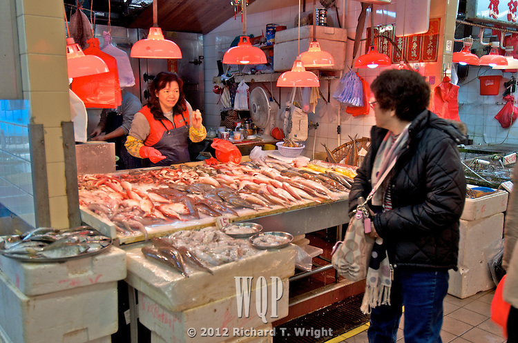 Hong Kong  Sair Kung, Hong Kong  A wet market or fish market in Sai Kung offers a variety of seafood.