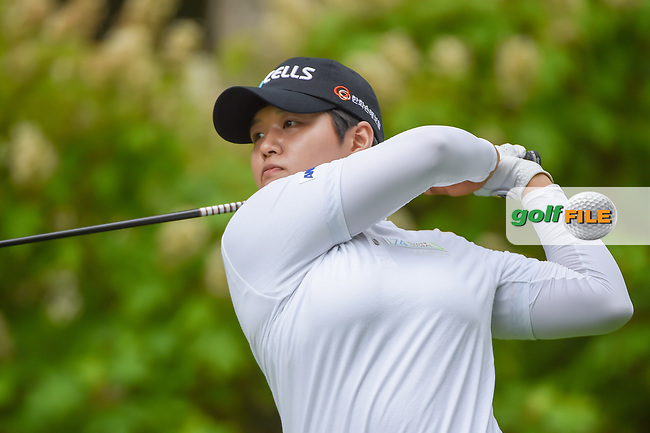 Haru Nomura (JPN) watches her tee shot on 14 during round 1 of the U.S. Women's Open Championship, Shoal Creek Country Club, at Birmingham, Alabama, USA. 5/31/2018.<br /> Picture: Golffile | Ken Murray<br /> <br /> All photo usage must carry mandatory copyright credit (© Golffile | Ken Murray)