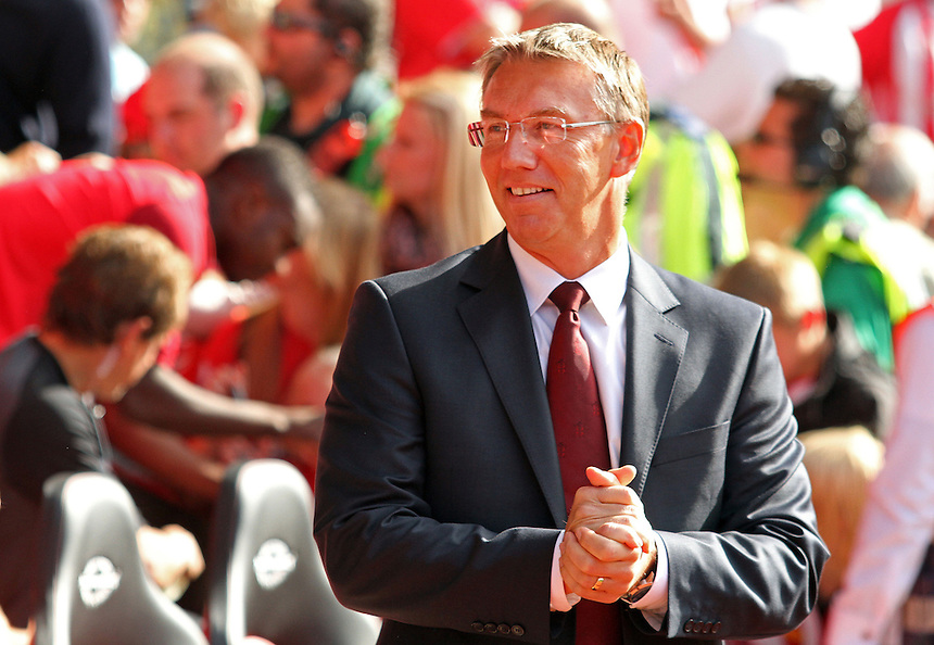 Southampton's Manager Nigel Adkins...Football - Barclays Premiership - Southampton v Aston Villa - Saturday 22nd September 2012 - St Mary's Stadium - Southampton..