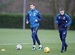 23.11.2018 Rangers training: Borna Barisic and Ryan Kent training with the physios