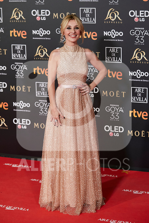 Cayetana Guillen Cuervo attends to 33rd Goya Awards at Fibes - Conference and Exhibition  in Seville, Spain. February 02, 2019. (ALTERPHOTOS/A. Perez Meca)