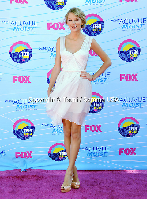 Taylor Swift  at the Teen Choice 2012 Awards at the Universal Amphitheatre In Los Angeles.