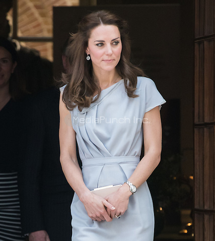 LONDON, ENGLAND - MAY 04: Kate, Duchess of Cambridge, patron of Anna Freud Centre, attends reception in support of the children's mental health charity's new centre of excellence, Spencer House.<br /> CAP/JOR<br /> &copy;JOR/Capital Pictures /MediaPunch ***NORTH AMERICAN AND SOUTH AMERICAN SALES ONLY***