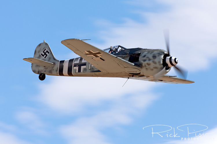 Focke-Wulf Fw-190 in flight during the 2010 Reno National Championship Air Races.