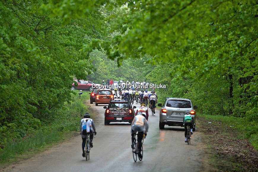 Division I collegiate women's race during the USA Cycling Collegiate Road National Championships at Blue Mound State Park in Blue Mounds, Wisconsin on May 7, 2010. (Photo by David Stluka)
