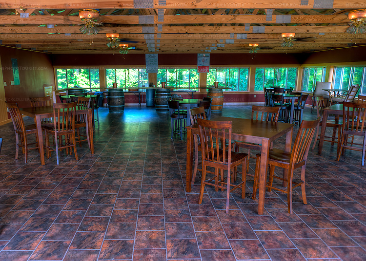 The new function room at General's Ridge Vineyard and Winery was not yet complete when we visited in July 2011.  (HDR image)