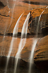 Waterfall at the Temple of Sinawava,  Zion National Park, Utah, USA,  December 1,  2007.  A recent rainstorm provided a good flow of water on this day.  Photo by Gus Curtis.