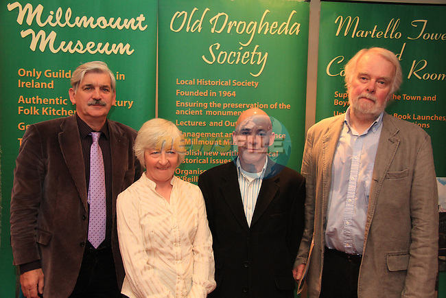 Chairman of Old Drogheda Society Sean Corcoran, Dr. Maura Cronin, Brendan Matthews and Professor Gary Owens..Picture: Shane Maguire / www.newsfile.ie.