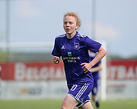 20180501 - TUBIZE , BELGIUM : Anderlecht's Charlotte Tison pictured during a womensoccer game between  RSC Anderlecht Dames and KRC Genk Ladies , during play-off 1 , at the Euro 2000 Center in Tubize , tuesday 1 st May 2018 . PHOTO SPORTPIX.BE | DAVID CATRY