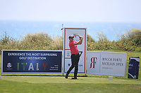 James Morrison (ENG) on the 7th tee during Round 1 of the Rocco Forte Sicilian Open 2018 on Thursday 10th May 2018.<br /> Picture:  Thos Caffrey / www.golffile.ie<br /> <br /> All photo usage must carry mandatory copyright credit (&copy; Golffile | Thos Caffrey)