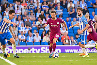 Bernardo Silva of Manchester City (20)  during the EPL - Premier League match between Brighton and Hove Albion and Manchester City at the American Express Community Stadium, Brighton and Hove, England on 12 August 2017. Photo by Edward Thomas / PRiME Media Images.