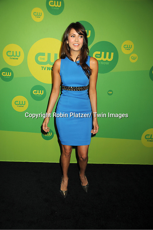 "Nina Dobrev of ""The Vampire Diaries"" attends the CW Network's 2013 Upfront Presentation on May 16, 2013 at the London Hotel in New York City."