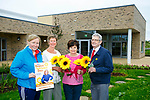 Launching Hospice Sunflower Day on Friday and Saturday 9th and 10th of June outside the New wing of the palliative care unit on Monday were Andrea O'Donoghue, PRO, Maura Sullivan, Treasurer, Mary Shanahan, Committee Member,Ted Moynihan (chairman Kerry Hospice Foundation),
