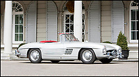 BNPS.co.uk (01202 558833)<br /> Pic: Bonhams/BNPS<br /> <br /> 1958 Mercedes-Benz 300 SL Roadster estimated at &pound;680,000.<br /> <br /> If barn finds are the holy grail for car collectors then this selection of 12 vintage motors worth &pound;2million found languishing in a Swiss schloss is something else. <br /> <br /> The stunning collection, which boasts an iconic 1921 Rolls-Royce Silver Ghost, was started by a wealthy car enthusiast in the 1950s but since his death has remained largely untouched. <br /> <br /> However, the original owner's son recently rediscovered his father's haul and will now offer it at auction.