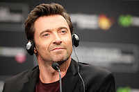 "Australian actor Hugh Jackman during the press conference of the ""Prisioners"" film presentation during the 61 San Sebastian Film Festival, in San Sebastian, Spain. September 27, 2013. (ALTERPHOTOS/Victor Blanco) <br /> San Sebastian Film Fest <br /> Foto Insidefoto"