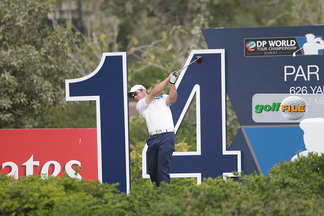 Paul CASEY (ENG) during round 4 of the DP World, Tour Championship, Dubai, UAE.<br /> Picture: Fran Caffrey www.golffile.ie