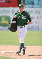 Marc Lewis of the Jamestown Jammers, Class-A affiliate of the Florida Marlins, during New York-Penn League baseball action.  Photo by Mike Janes/Four Seam Images