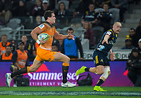 Jaguares' Emiliano Boffelli in action during the Super Rugby match between the Highlanders and Jaguares at Forsyth Barr Stadium in Dunedin, New Zealand on Saturday, 11 May 2019. Photo: Dave Lintott / lintottphoto.co.nz