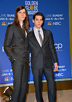 LOS ANGELES, USA. December 09, 2019: Dylan Brosnan & Paris Brosnan at the nominations announcement for the 77th Golden Globe Awards at the Beverly Hilton Hotel.<br /> Picture: Paul Smith/Featureflash